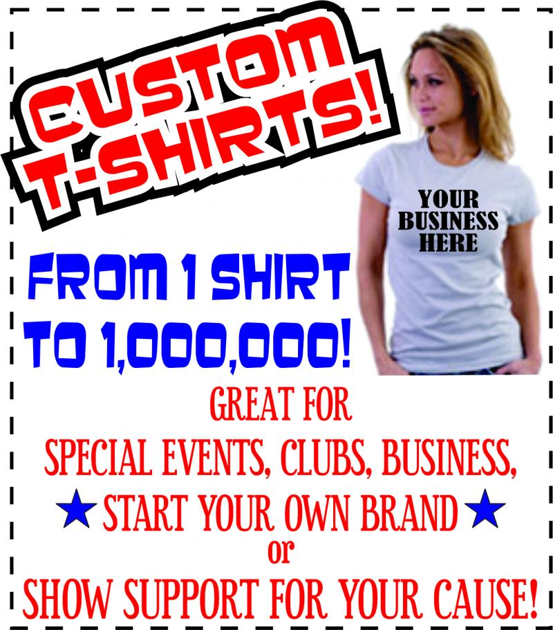 Custom T-Shirts, Band Shirts, Work Shirts, Screen Print, Sublimation, Heat Press